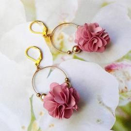 Boucles d'oreilles bohème Daisy rose