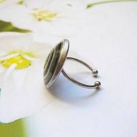 Bohemian ring black spiral